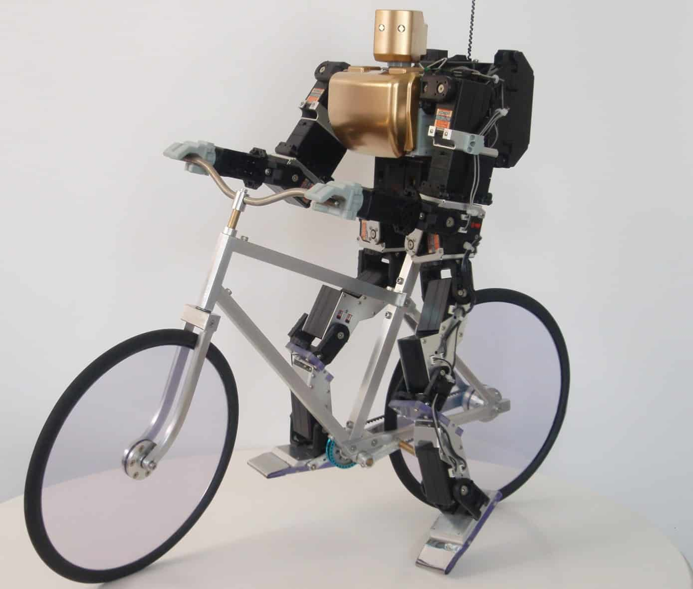 Fietsende robot