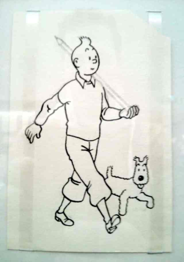 Hergé tekening Kuifje