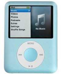 iRioni iPod Nano 3 in het blauw