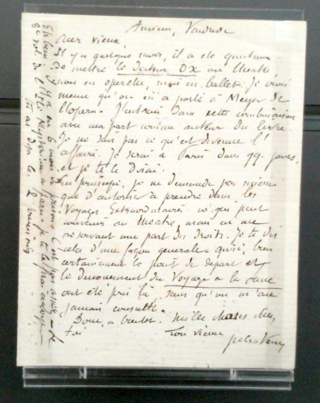 Jules Verne handschrift