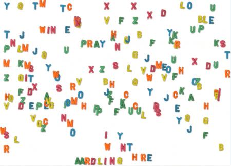 Koelkast letters