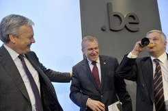 Didier Reynders, Yves Leterme en Guy Vanhengel