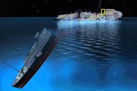 Het zinken van de Titanic in 3D
