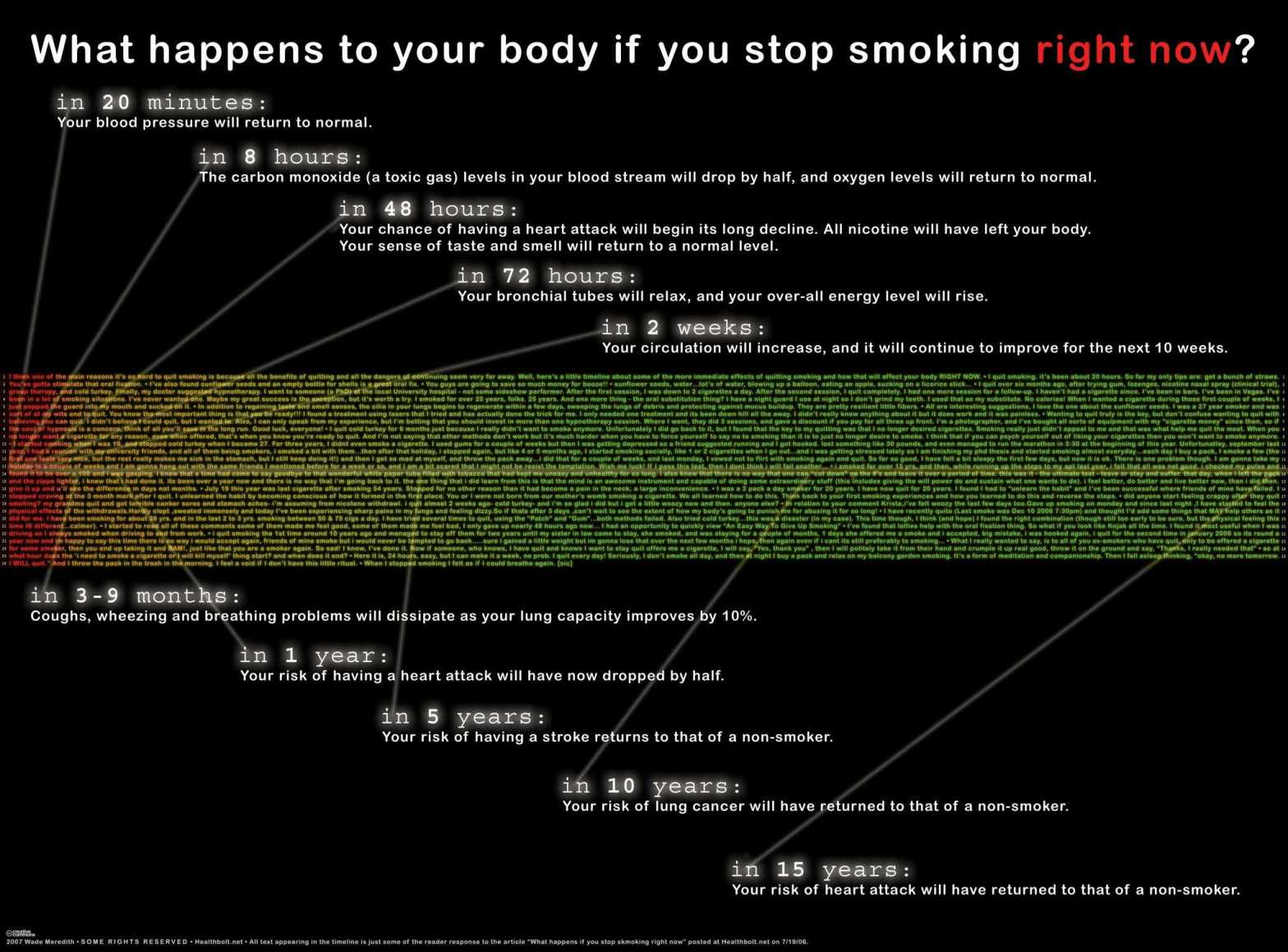 What happens to your body if you stop smoking right now?
