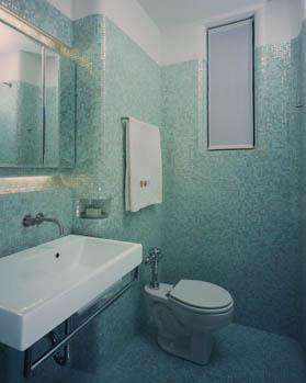aardvarchitecture  Glass Tile Bathroom