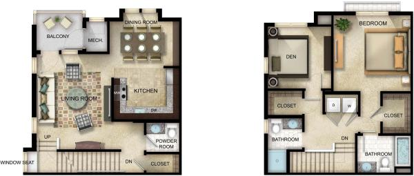 Photoshop Rendered Floor Plan