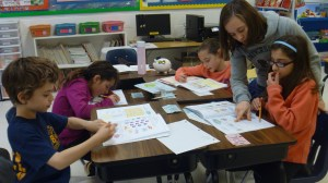 Children study Jewish literature and Hebrew at our religious school