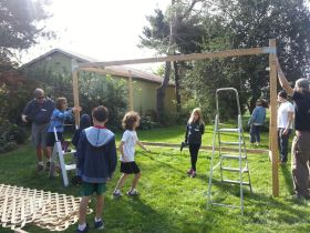 Beit Sefer students really did the building. Come on out and help!