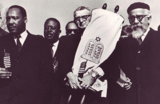 Martin Luther King, Jr, with Rabbis Maurice Eisendrath and Abraham Joshua Heschel