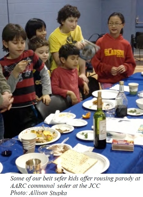 Beit Sefer Kids at Seder 2013