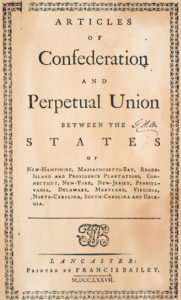 America's Articles of Confederation enacted - African American Registry