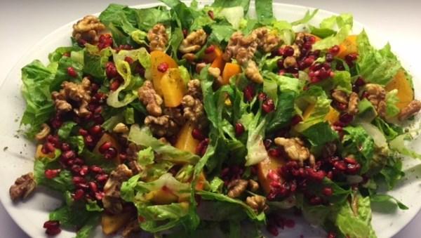 salat med frugt
