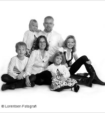 Familiefoto på lærred