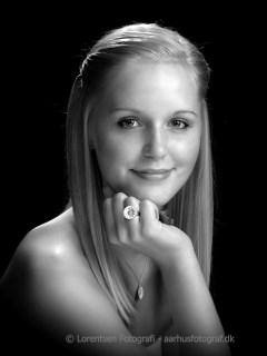 pige portrætfoto