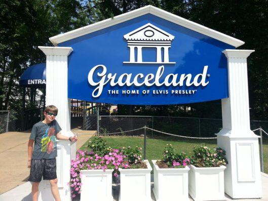 Aaron Hanania at Graceland in Memphis, TN