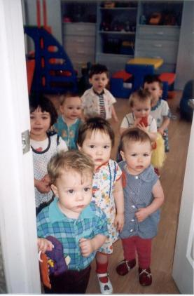 Orphans at door of Orphanage 2002