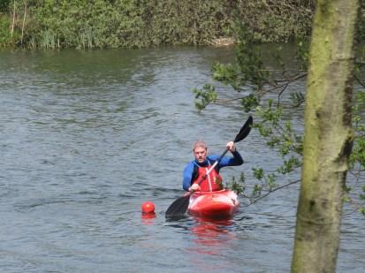 Kayak turnging practise