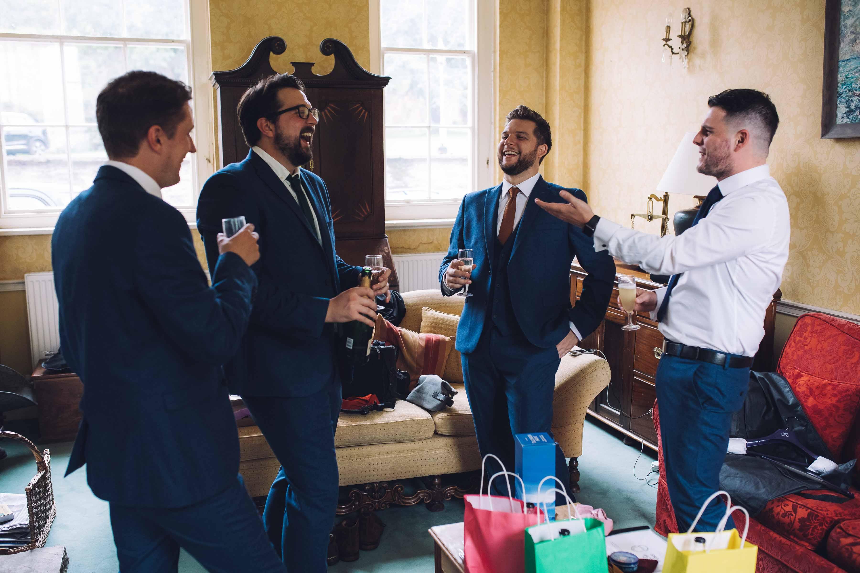 Walcot Hall Wedding Groomsmen