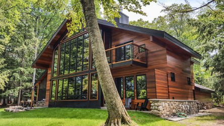 cottage modern cabin architecture designs michigan northern cottages homes wood lake plan stone custom diy build wonder stunning