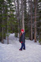 Emily Hiking Back From Dream Lake