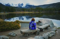 Amy Enjoying The View At Sprague Lake
