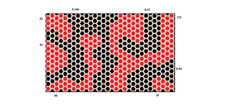 Game 1 (medium rectangle) (black plays, black wins 231-219)