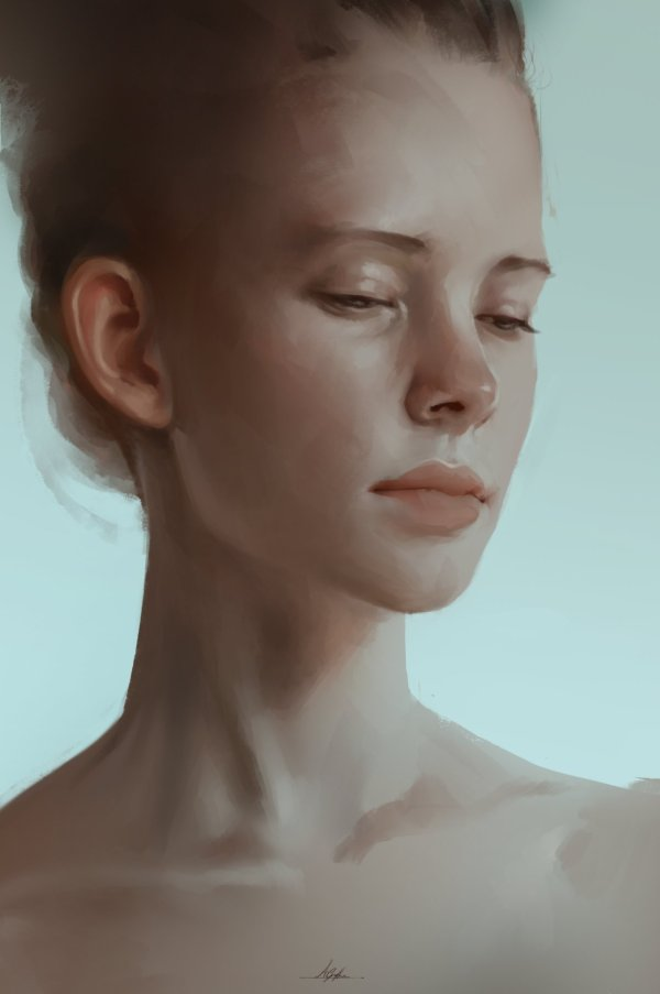 Digital Art Portrait Painting