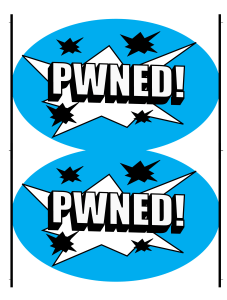 PWNED! Sticker