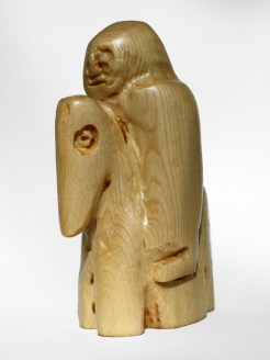 White Knight. Carved and varnished pine. 2012.