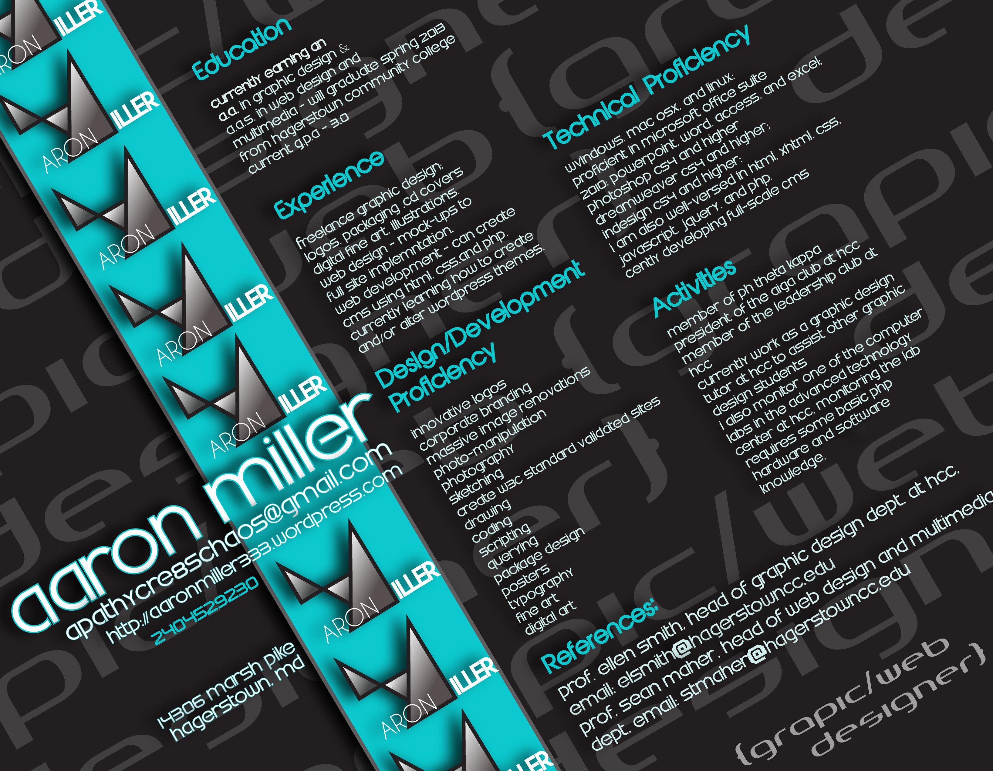 Creative Resume Example The Blog For ApathyCre8sChaos