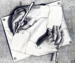 "M. C. Escher's ""Drawing Hands"""
