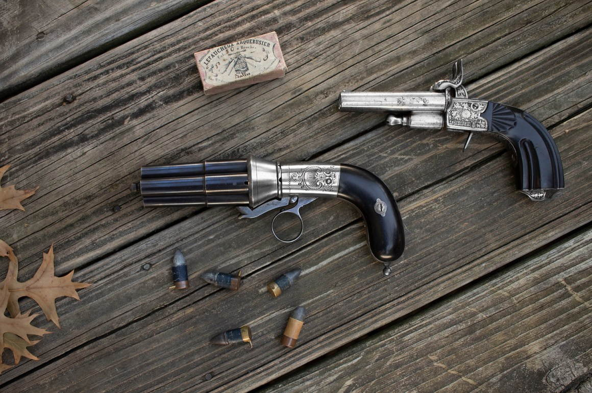 Casimir Lefaucheux pistols and Chaudun pinfire cartridges