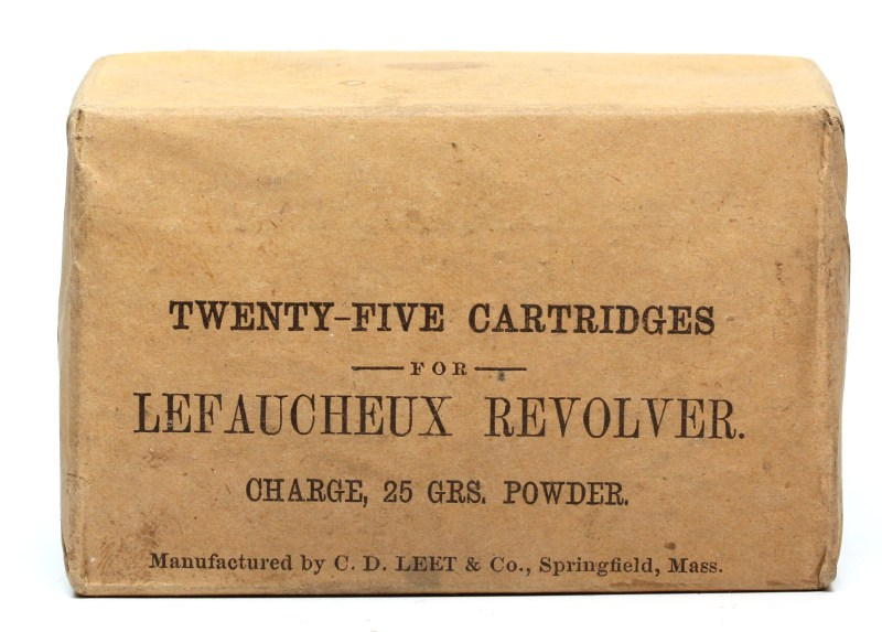 C. D. Leet Pinfire Box