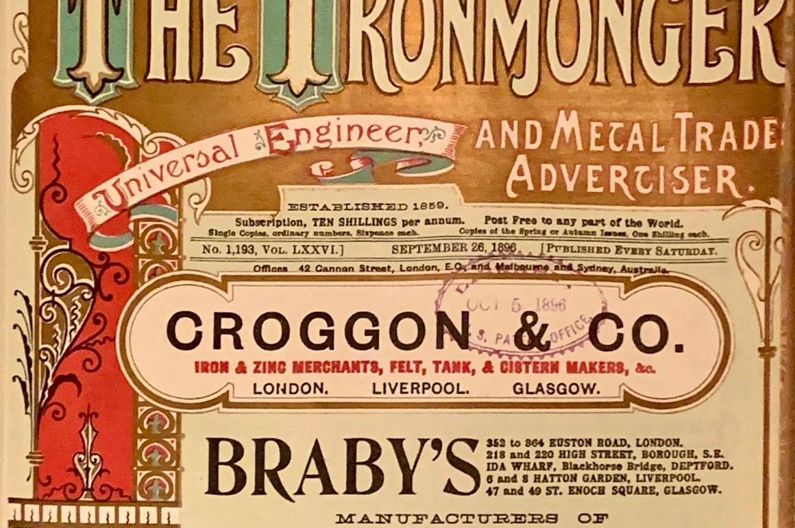 The Ironmonger - Autumn 1896 Issue