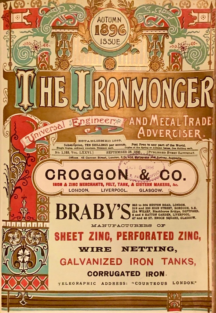 The Ironmonger - Autumn 1896 Issue