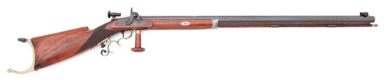 New York Percussion Halfstock Schuetzen Rifle by Genez