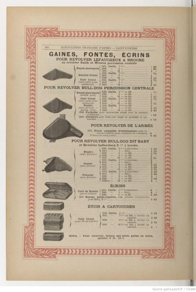 Manufacture Française d'Armes et Cycles de St.Etienne catalog from 1892