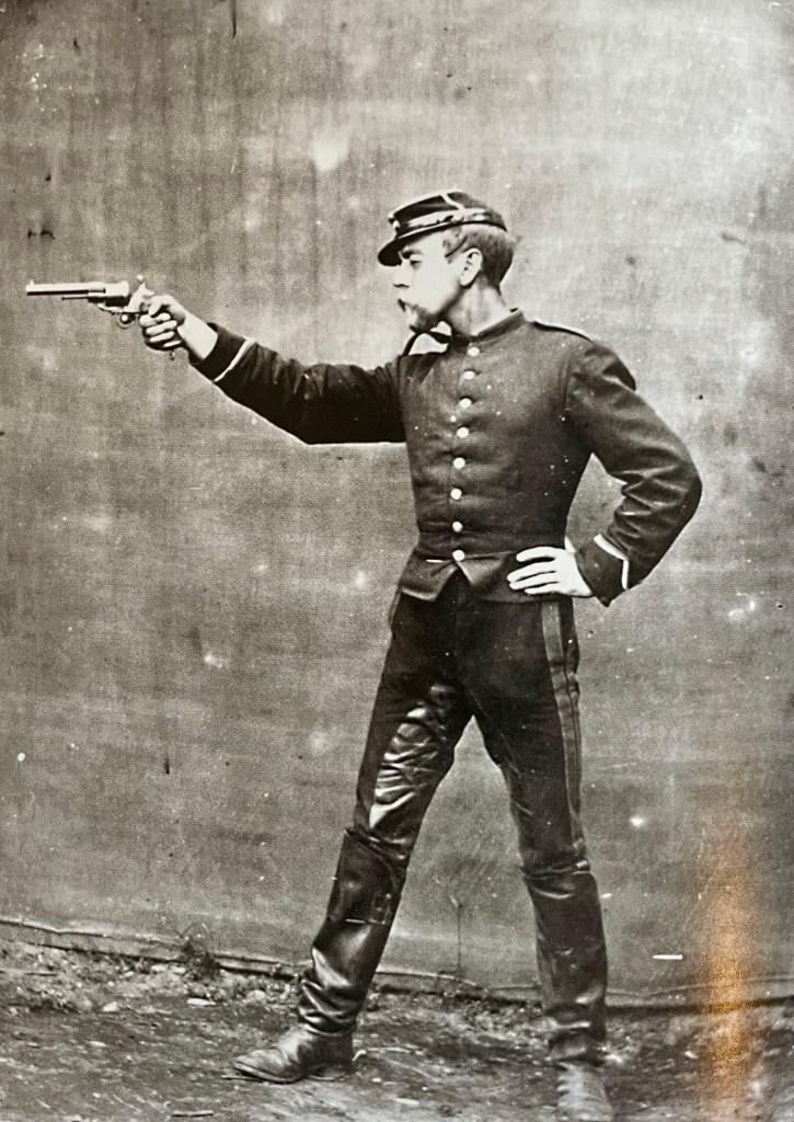 Norwegian Soldier with M/64 Revolver