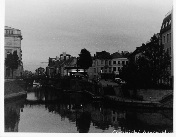 Approaching the Ghent Historic Center