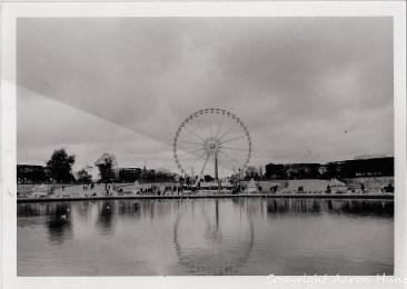 Ferris Wheel - bad print. See the diagonal line? SOmethign happened during printing.