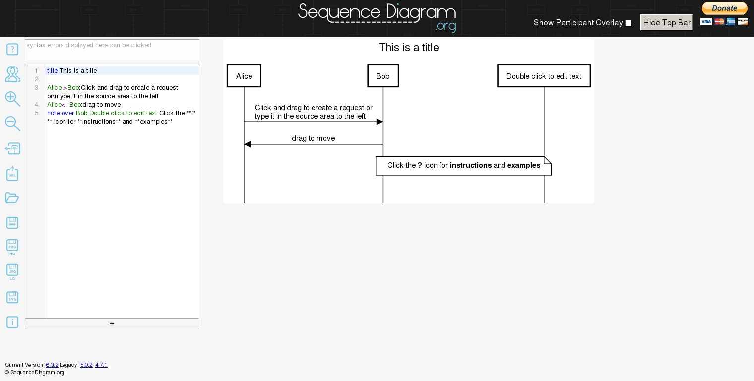 free tool to create sequence diagram simple wiring for light switch sequencediagram org online aaron parecki