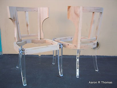 acrylic chair legs large dish custom and feet for furniture added to aaron r thomas online boutique