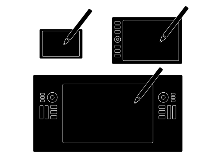 illustration of the different types of drawing tablets I review