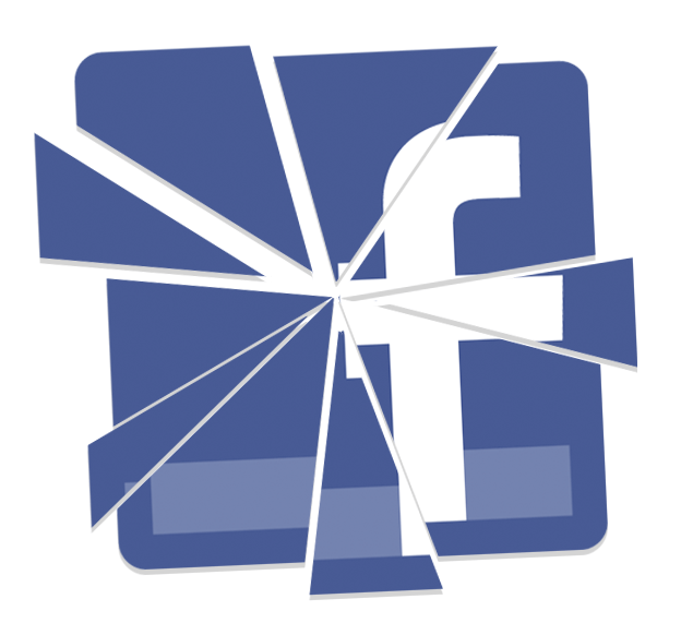 shattered facebook logo