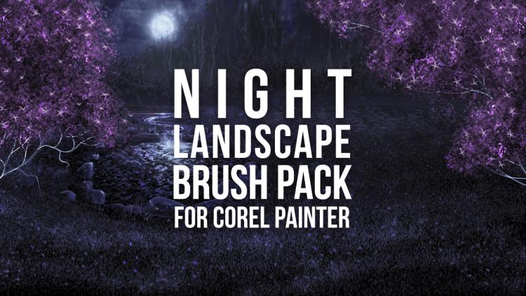 night landscape brush pack for corel painter