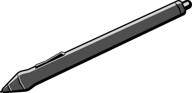 illustration of a wacom grip pen