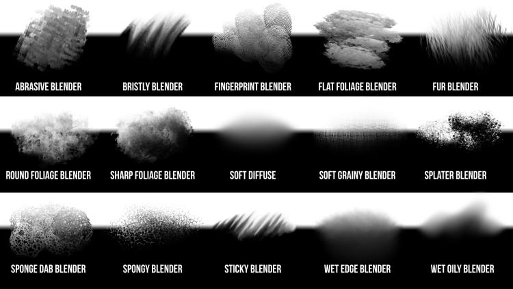 custom blender brushes for adobe photoshop and fresco
