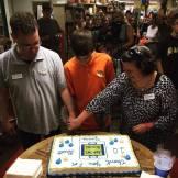 10th Birthday cake cutting