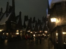 Hogsmeade at night is magical