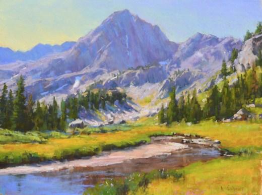 """""""Spanish Peaks Summer"""" 12x16, pastel."""